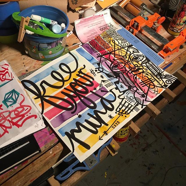 FREE YOUR MIND !!! Last night session with @wordsmeetwalls and @depoh .......