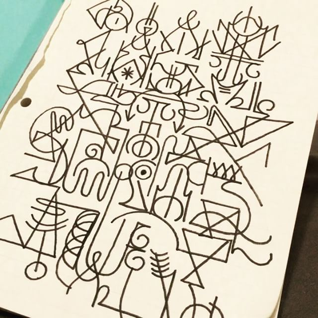 The editors cut. Darko. #jamesmonk #asemic #asemicwriting #asemic_writing
