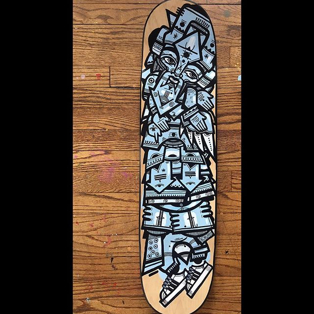 Skate deck available. Just finished it yesterday. If interested dm. #rasterms
